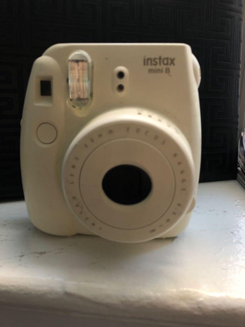 Instax polaroid camera white