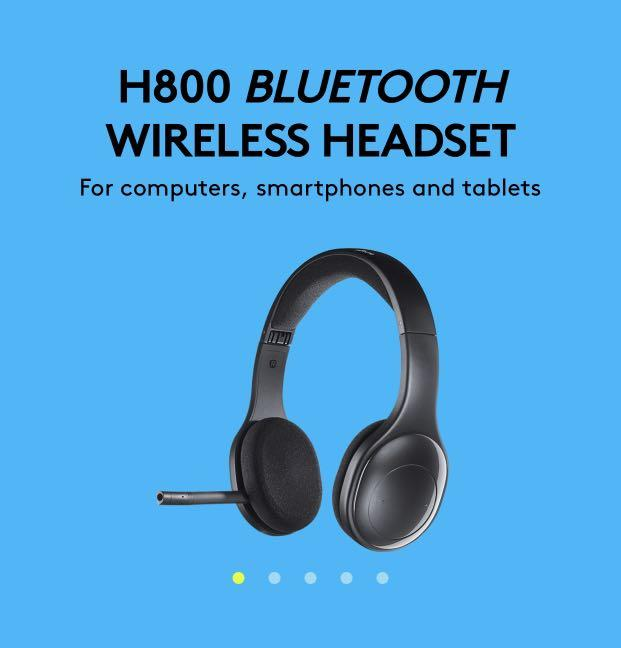 Logitech H800 Bluetooth And Wireless Headphones With Microphone Electronics Computer Parts Accessories On Carousell