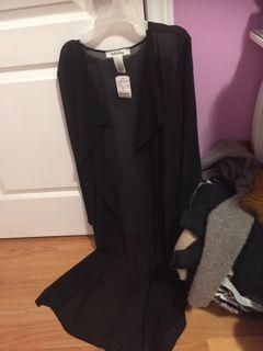M boutique sheer duster