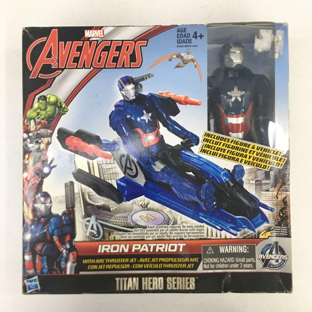 "Marvel Avengers Iron Patriot avec arc propulseur Jet Titan Hero Series 12/"" figure"