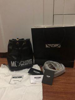 Moschino Logo Printer Bucket Bag