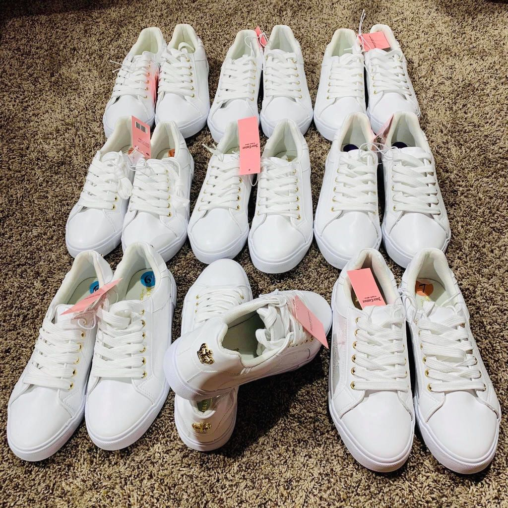 PRE ORDER JUICY COUTURE WHITE SNEAKERS