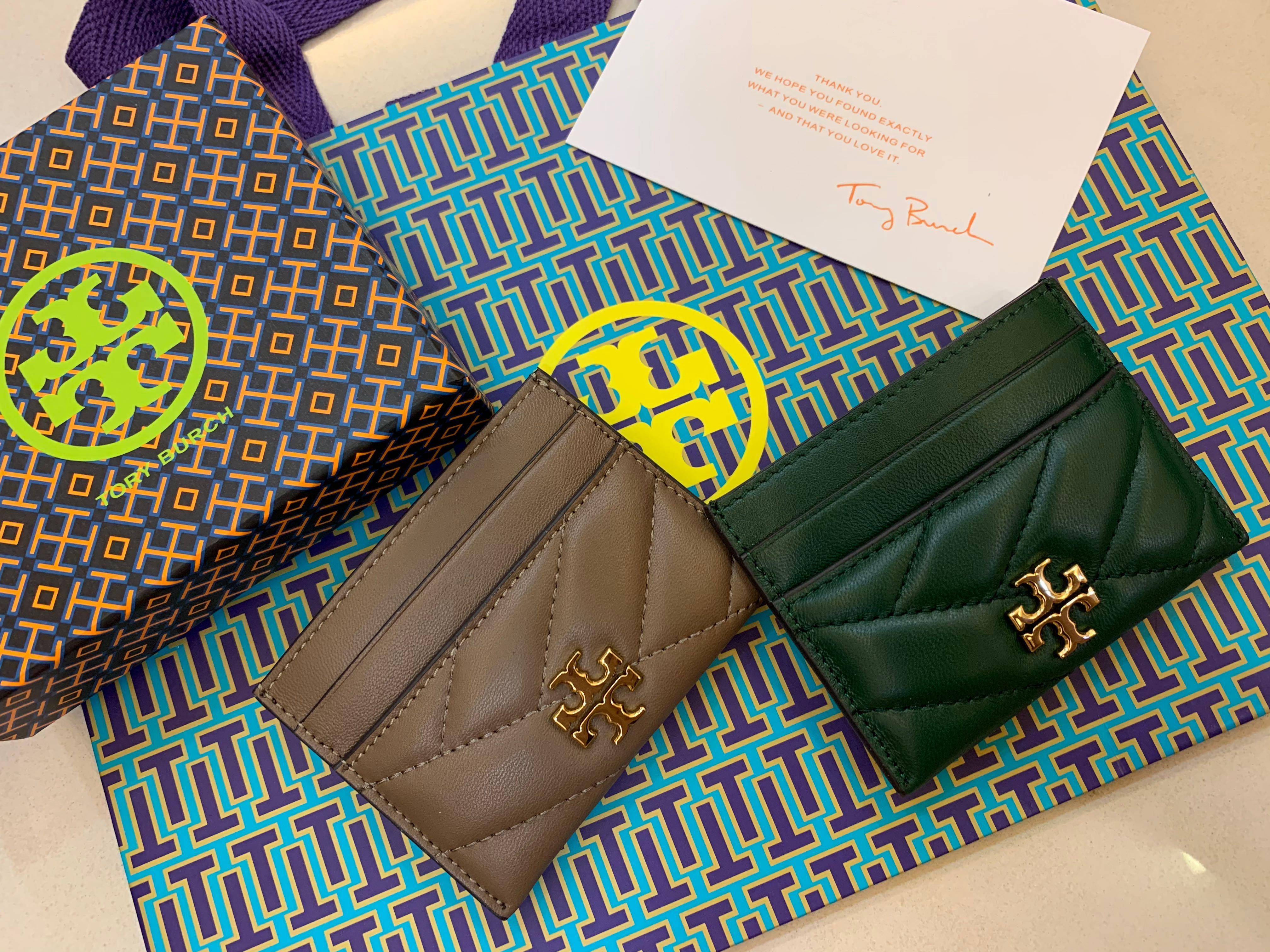Ready Stock Authentic Tory Burch Kira Fleming calf leather card case