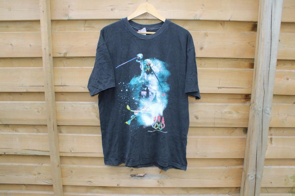 USA Olympic T Shirt / Downhill Ski / Mountain Racing