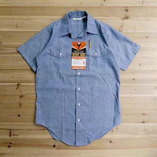 《白木11》 🇺🇸 70's Keys Imperial Chambray 美國製 青年布 牛仔 短袖 襯衫 古著