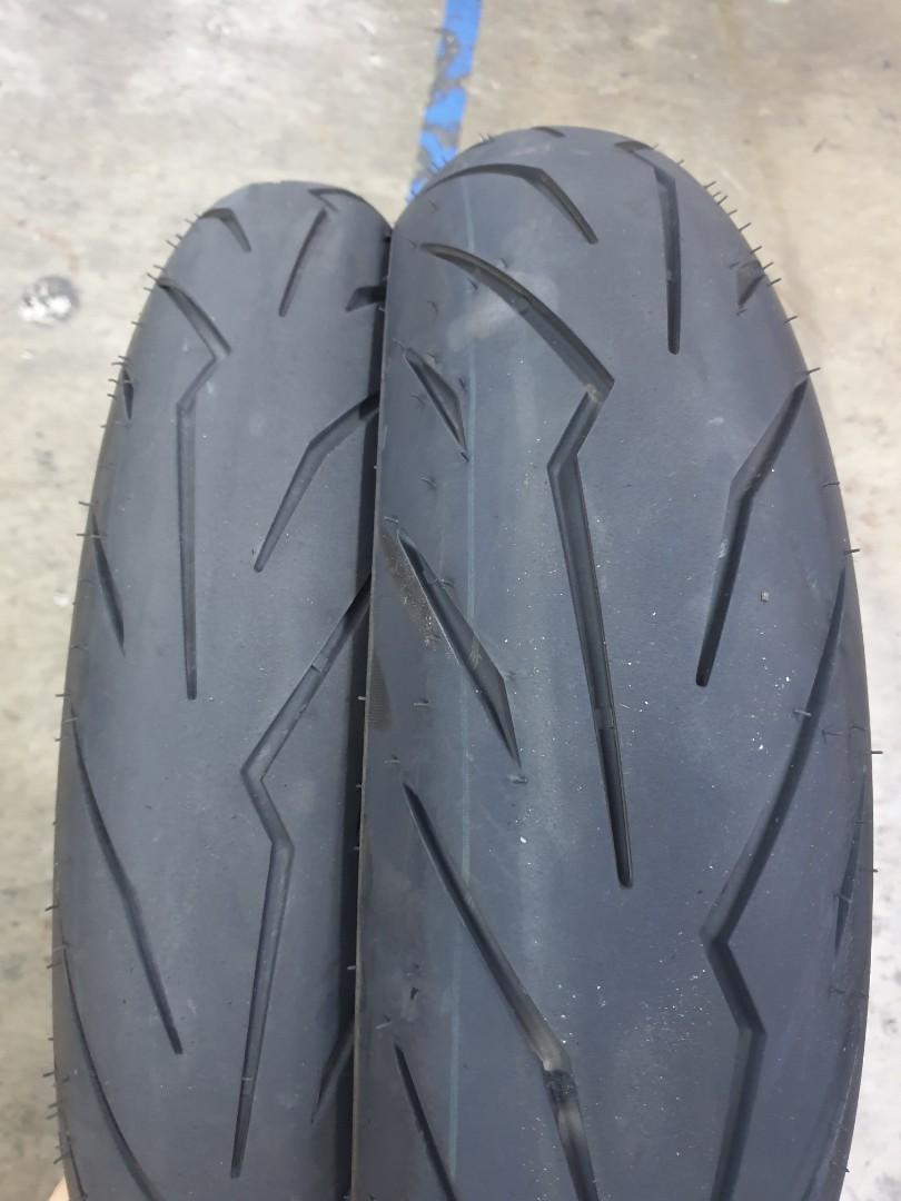 Sold 90 140 70 Pirelli Diablo Rosso Sport Motorcycles Motorcycle Accessories On Carousell