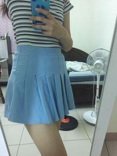高腰百摺短裙