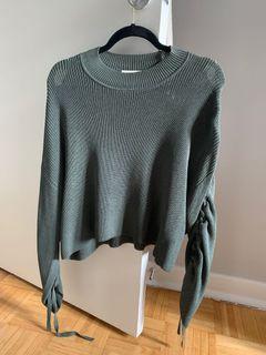 Aritzia tie-up sweater