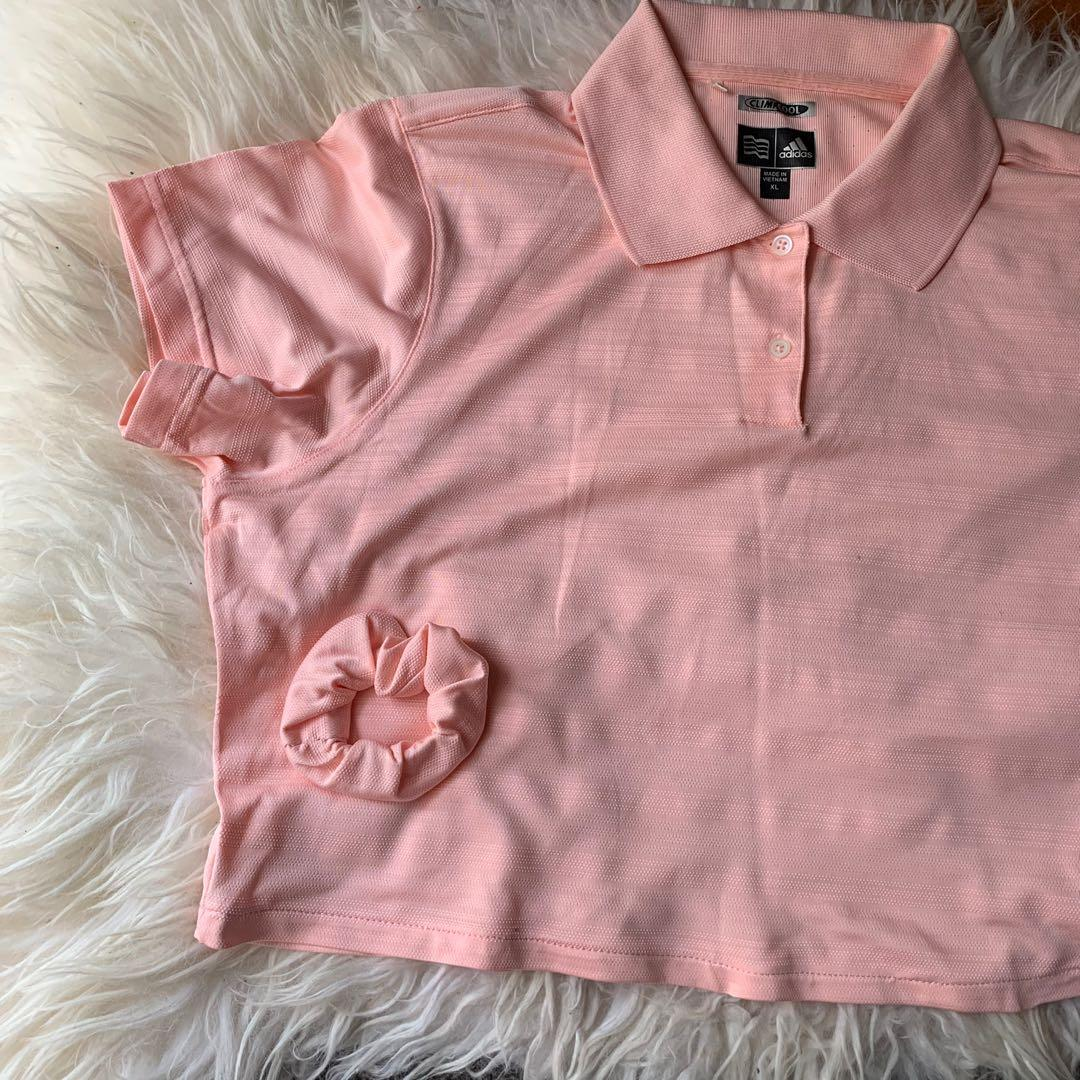 authentic adidas semi cropped top