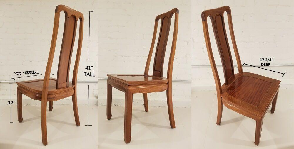 FIVE (5) SOLID OAK CHAIRS FOR SALE!