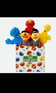 Kaws x Sesame Street plushies