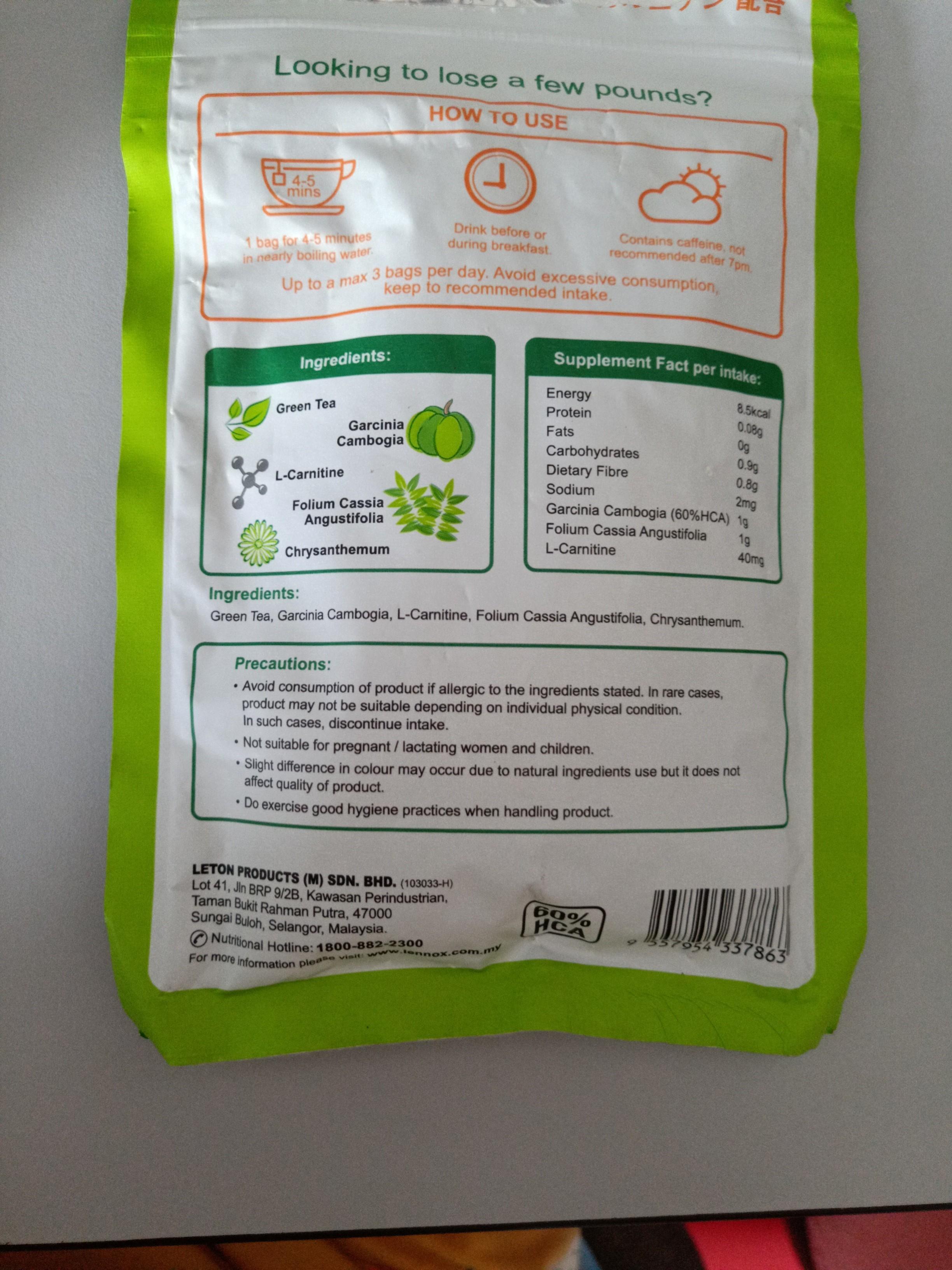 Lennox Garcinia Cambogia Crysanthemum Tea Health Beauty Bath
