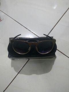 Nego Kacamata Oakley Die Cutter Silver + Lensa Anti Radiasi