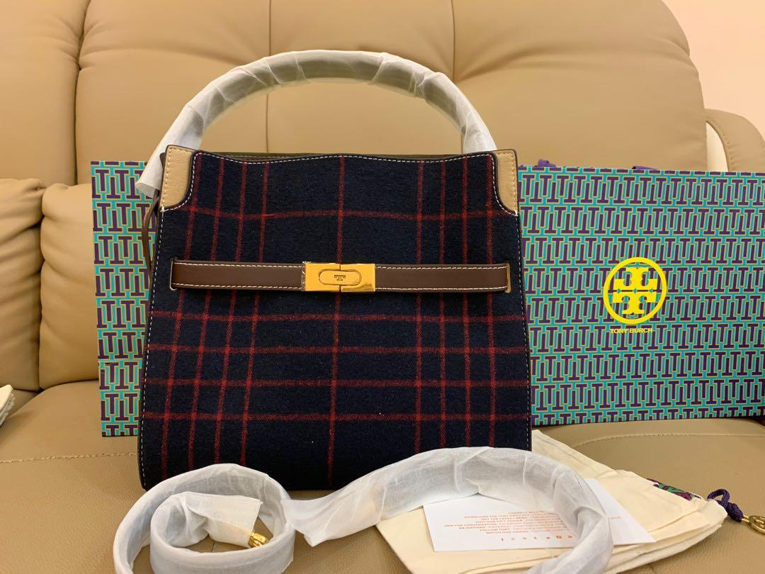 Ready Stock Authentic Tory Burch medium Lee Radziwill triple totes 👜