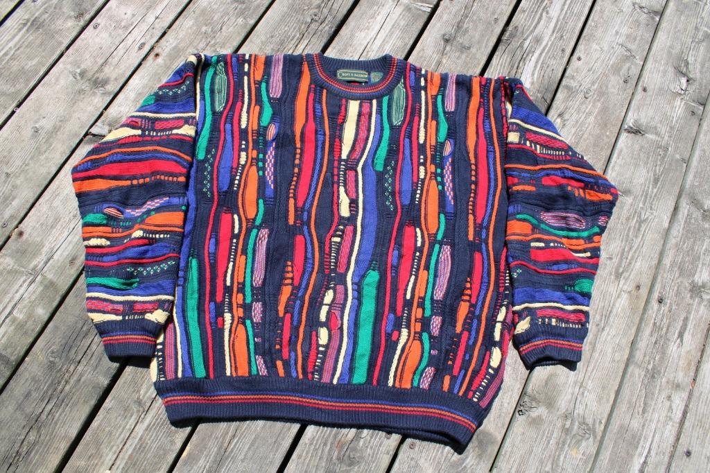 Vintage Cosby Sweater / 90s Coogi Style Croft Barrow Sweatshirt