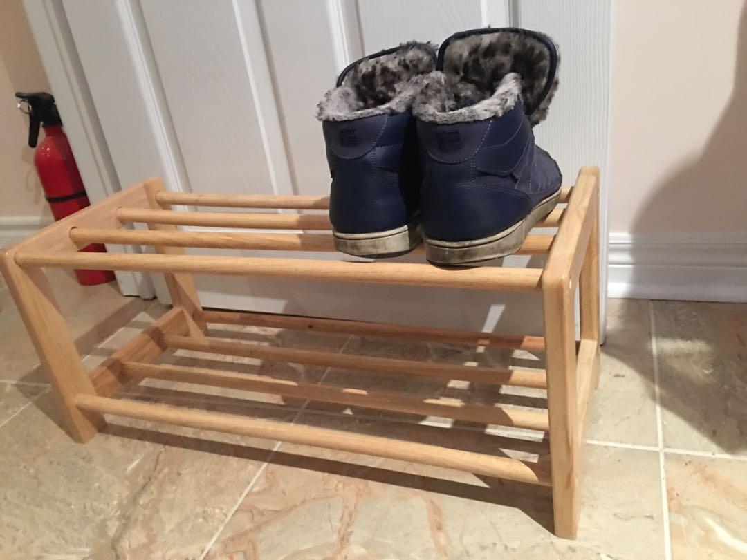 Wooden shoe rack (used)
