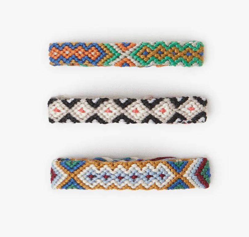 Zara Kids 3 Pack Braided Thread Bracelets