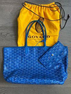 Authentic Goyard St Louis PM bag - blue
