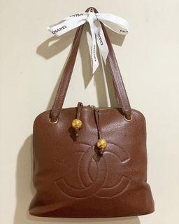 Chanel Alma Brown Caviar Tote Bag