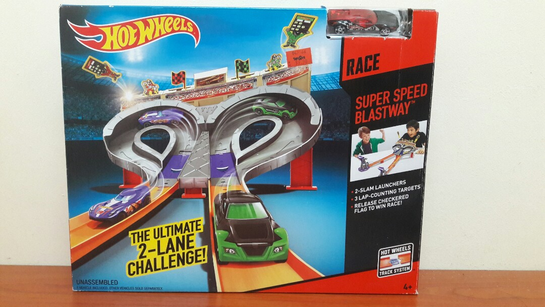 Hotwheels Super Speed Blastway Track Set Toys Games Diecast Toy Vehicles On Carousell