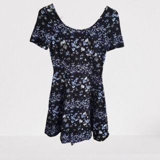 NWOT H&M A-Line Floral Dress (Fits XS)