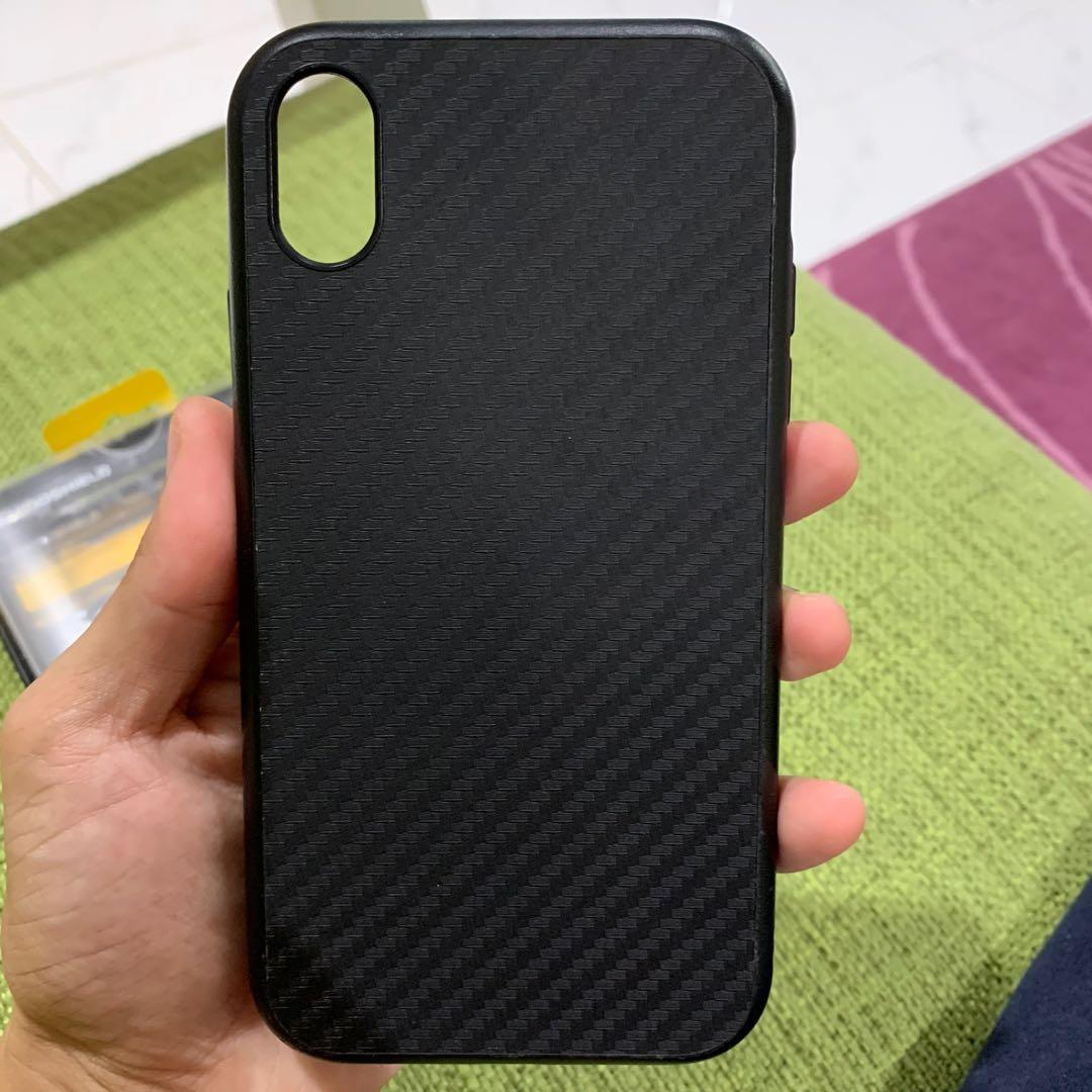 Rhinoshield Solid Suit Carbon Fiber Case For Iphone Xr Mobile Phones Tablets Mobile Tablet Accessories Cases Sleeves On Carousell