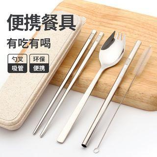不銹鋼外出便携餐具3件套裝, 3 pcs set stainless steel cutlery hand carry