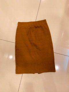 韓版 針織 包臀 窄裙