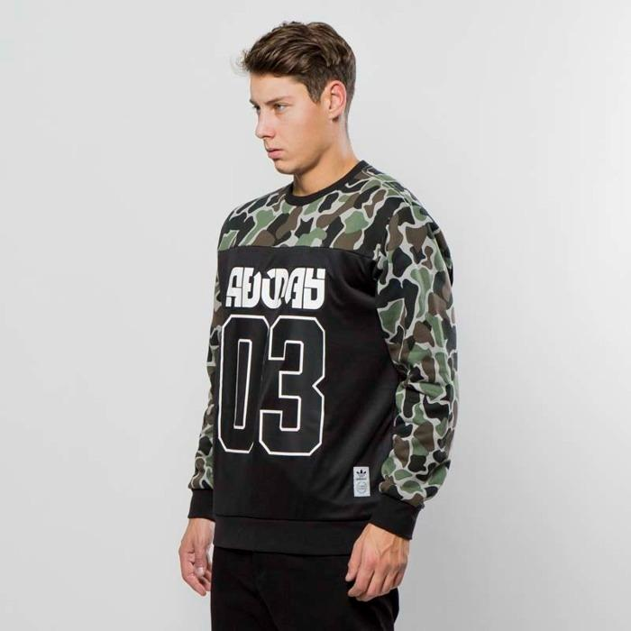 Adidas WINTER CREW SWEATSHIRT A STREET-READY PULLOVER WITH CAMOUFLAGE w tag