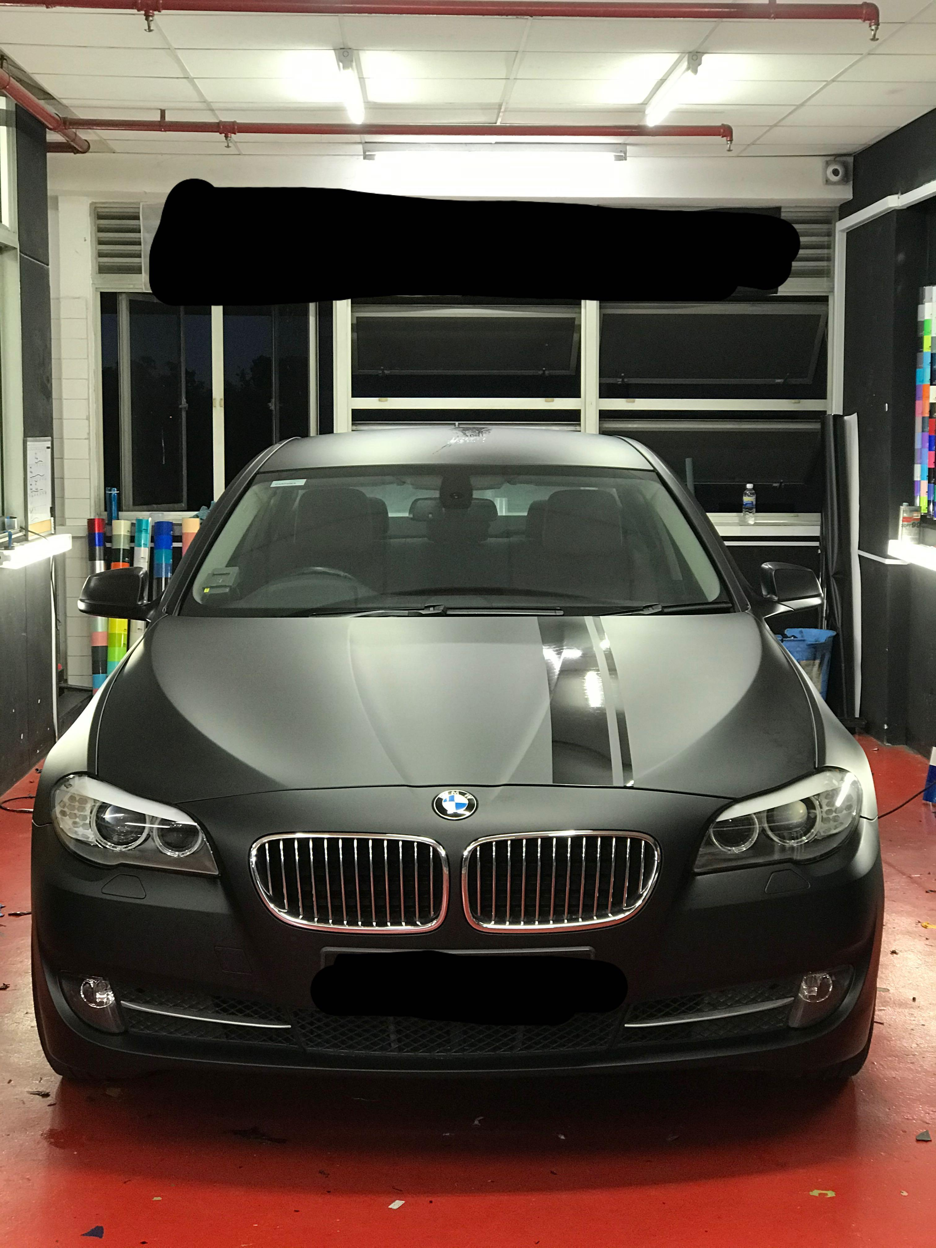 Bmw 5 Series Full Wrap Matte Black Car Accessories Accessories On Carousell