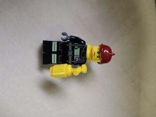 Lego City Fire Fighter Minifigure 100% Authentic