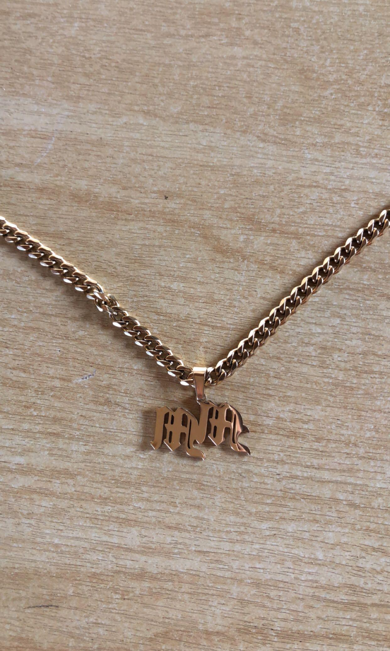 MM Initial necklace