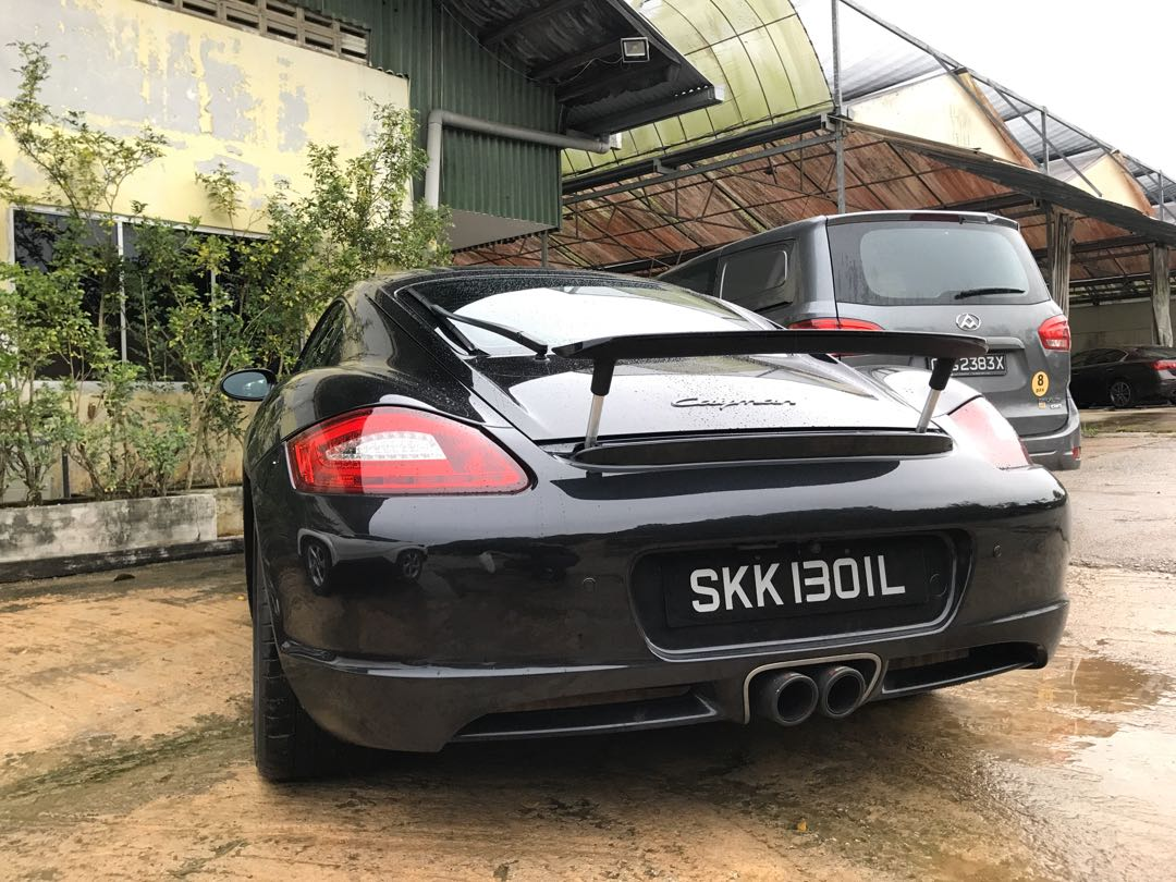 Porsche Cayman 987 Rise Spoiler Kit Gt Wing Optional Car Accessories Car Workshops Services On Carousell