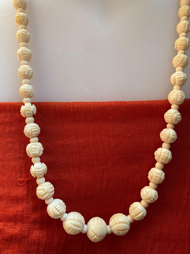 Vintage Hand Carved Necklace Women S Fashion Jewelry Necklaces On Carousell