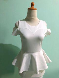 White Spandek Dress