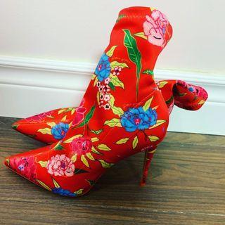 Aldo floral booties