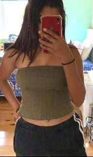 ARMY GREEN TUBE TOP