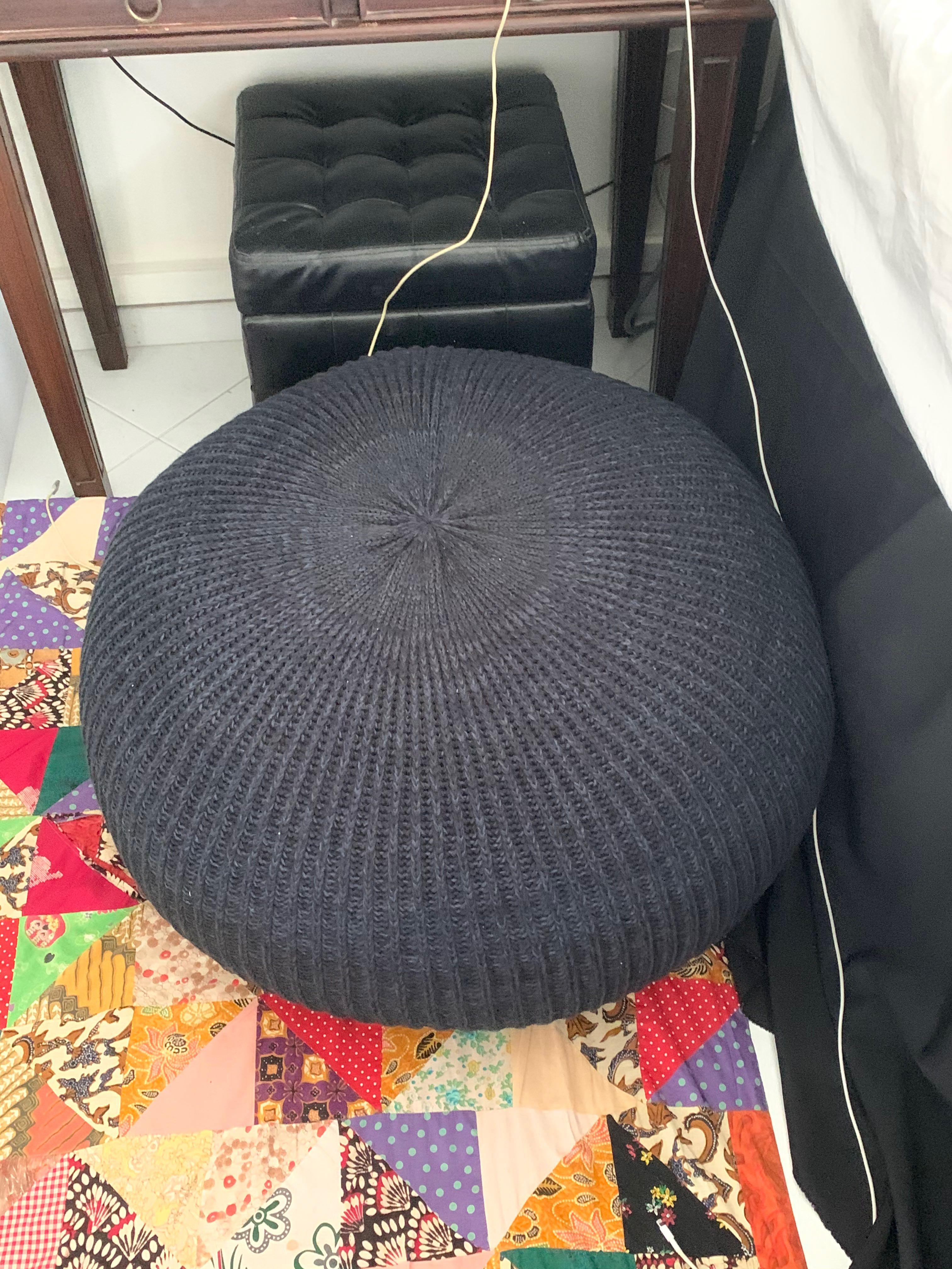 Ikea Sandared 71 Cm Pouf Pouffe Furniture Home Decor Cushions Linen On Carousell