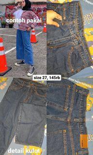 kulot jeans navy