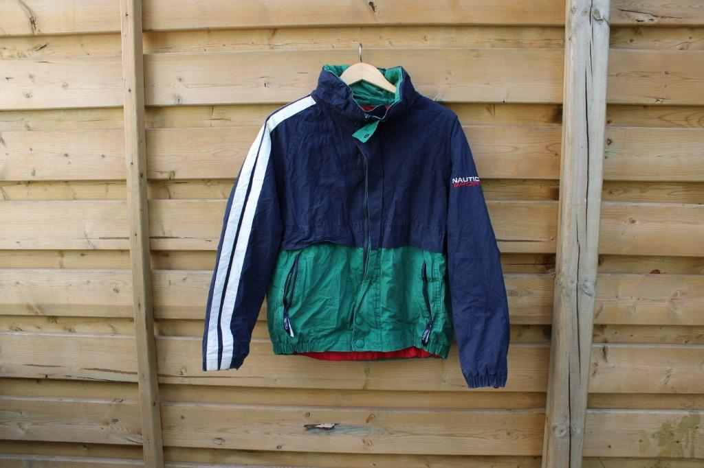 Nautica Sport Windbreaker / Sailing Zip Up Jacket / 90s Fashion