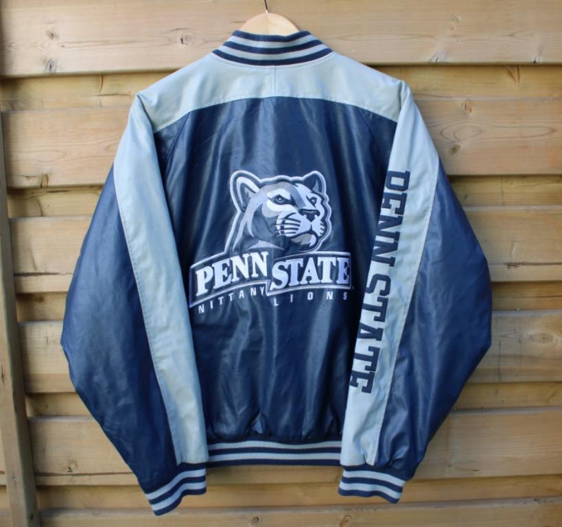 Vintage Penn State Varsity Jacket / Leather / 90s Vintage