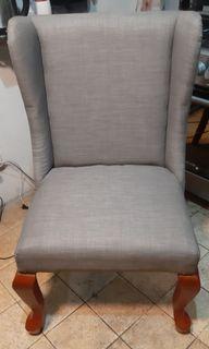 Mahogany Wood Wing Chairs
