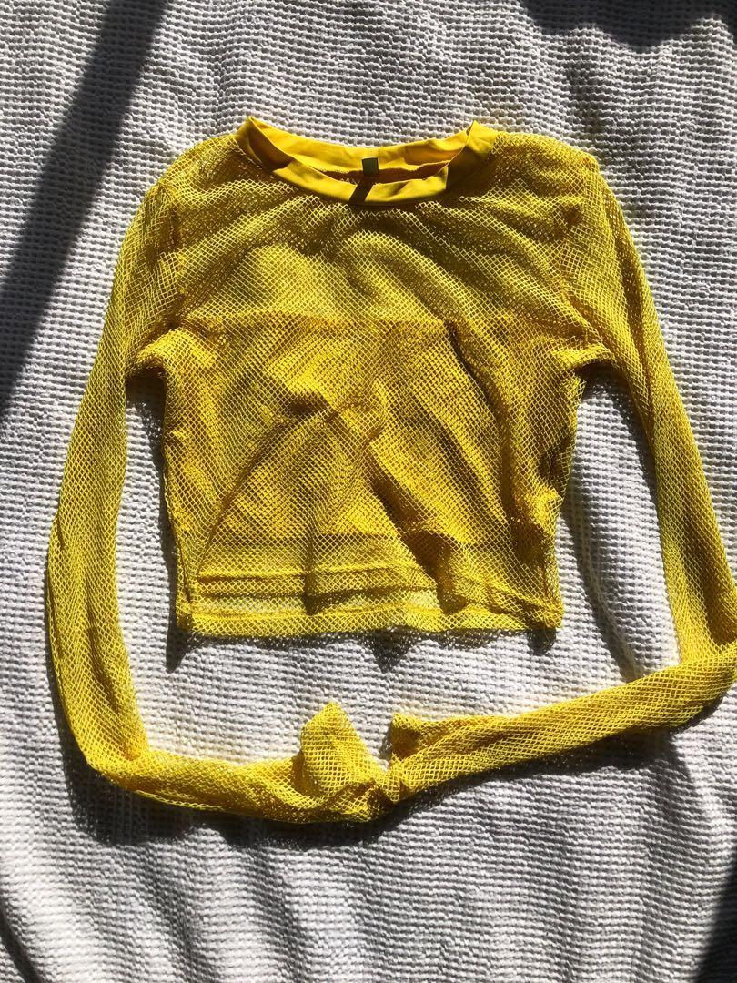Yellow mesh set