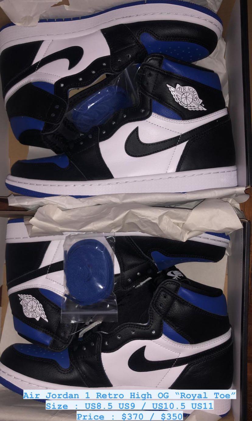 Air Jordan 1 Retro High Og Royal Toe Men S Fashion Footwear