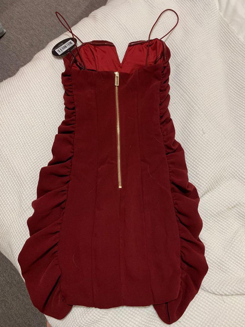 BWLDR burgundy mini dress