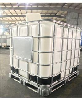 New Bottle Refurbished Cage IBC Tank - 1000L (UN)