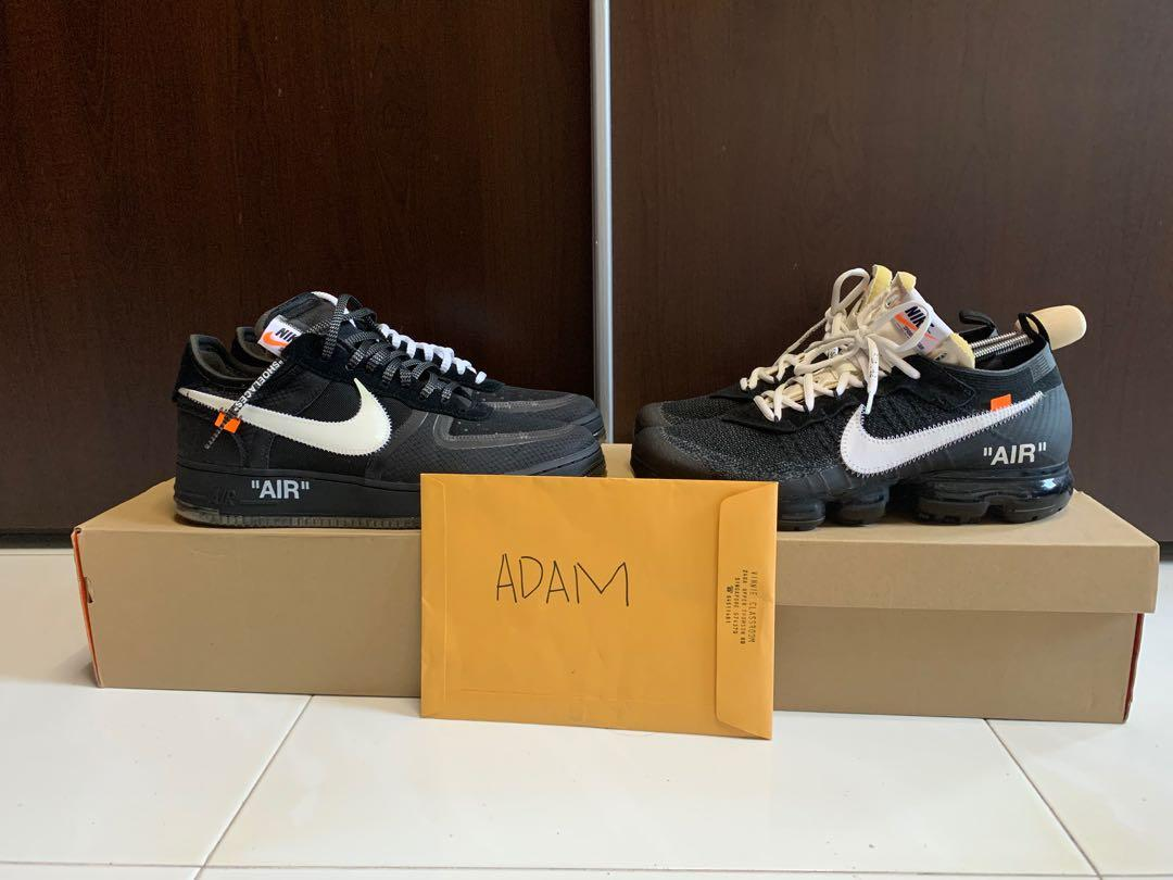 Off white nike vapormax and Air Force 1