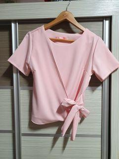 Office pink ribbon top