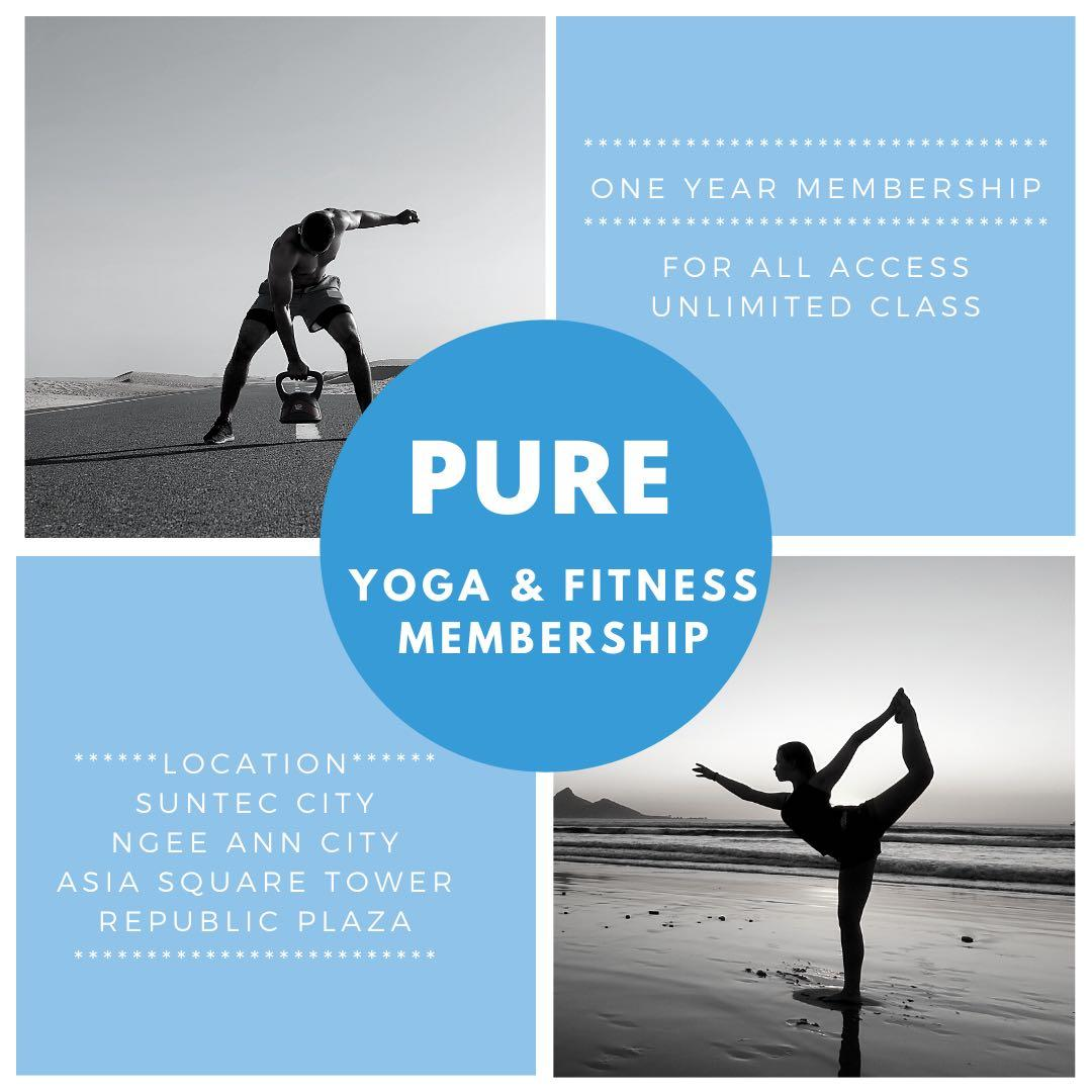 Pure Yoga Fitness One Year Membership Everything Else On Carousell