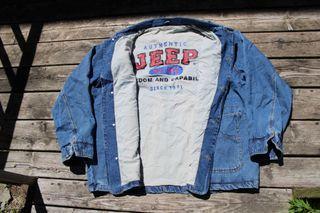 Vintage Jeep Denim Jacket / Jean Coat / 90s